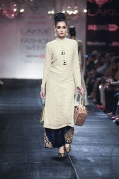 Vikram Phadnis Fall/Winter 2014-15 Love the kurta, the quilotte not so much.