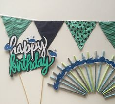 Party set nautical decorations preppy party by CKGalaDesigns