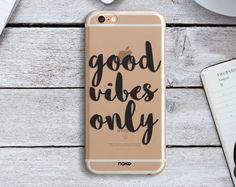 DESCRIPTION: NOKO Trasparent Case Good Vibes Only iPhone 6 Case Designed in Italy - Made in USA  The case is made of transparent polycarbonate