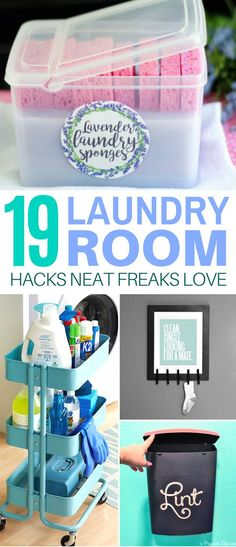 These 19 Laundry Room Hacks Will Make Your Cleaning Routine Soooo Much Easier! #laundryroom #hacks #clean #organize #lifehacks #organization