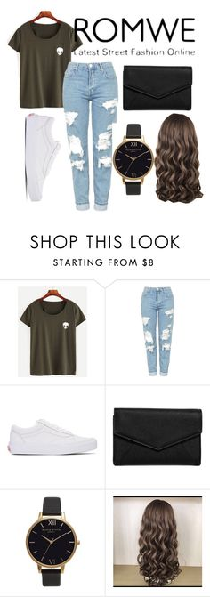 """""""ROMWE http://www.romwe.com/Olive-Green-Alien-Print-T-shirt-p-179212-cat-669.html?utm_source=polyvore&utm_medium=contest&url_from=tanja133"""" by hollydolly11 ❤ liked on Polyvore featuring Topshop, Vans, LULUS and Olivia Burton"""