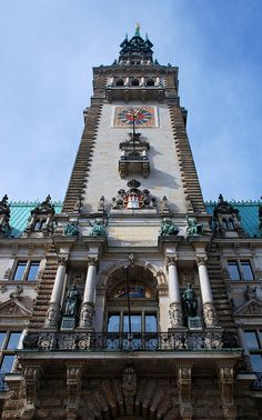 Detail ~ Town hall tower, Hamburg ~ Germany