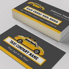 Customizable Licensed Cap Driver Chauffeur - Yellow Taxi Business Card Templates