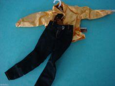 Vintage Barbie DOLL CLOTHES,Jordache gold shirt and Jordache Pants #mattel