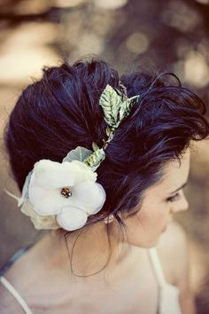 flower headband with awesome hair