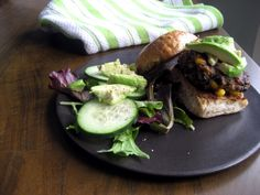 Sweat! A good black bean burger recipe!