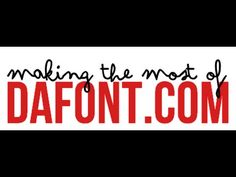Most everyone knows you can download awesome free fonts at Dafont.com, but it's got some other features you may be missing out on. Here's a list of some cool things you can do at Dafont besides downloading
