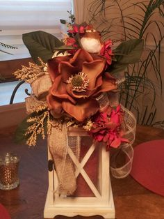 Summer Fall Lantern Swag Beautiful Large by TheChicyShackWreaths