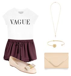 """""""Vogue outfit!"""" by modernmegan on Polyvore featuring H&M, Salvatore Ferragamo, Eddie Borgo, Tai and Accessorize"""
