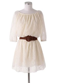 dELiAs > Allover Long-Sleeve Lace Dress >
