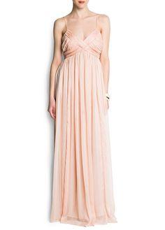 MANGO - Chiffon draped gown