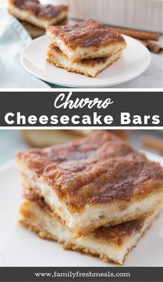 Churro Cheesecake Bars - Family Fresh Meals Easy Recipe #churro #churrorecipe #familyfreshmeals #dessert #cincodemayo #cheesecake #easyrecipe