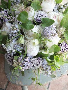 peony,eustoma,lilac and fritillaria