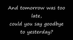 If Today Was Your Last Day Lyrics by Nickelback (+playlist)