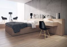Hotel Room by Thomas Peltzer, via Behance