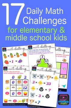 Fun math challenges for the kids! Maybe for adults too! Amazon Education, Math Challenge, Math Help, Learn Math, Math Courses, Daily Math, Printable Math Worksheets, Fun Math Games, Math Activities