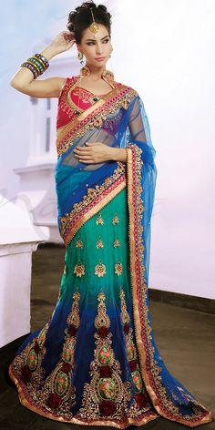 Designer Net Lehenga Style Saree Blouse   por SareeGalaxy World