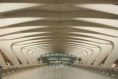 Lyon-Satolas Airport Railway Station by Santiago Calatrava