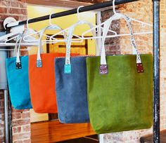 Waxed Canvas Tote Bag Market Bag Womens by LolafalkLeathergoods