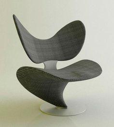 The Design Walker. Carbon fiber chair…..