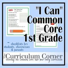 """Common Core """"I Can"""" statements for fourth grade in each curriculum area 4th Grade Classroom, 4th Grade Math, Classroom Ideas, Grade 1, Common Core Ela, Common Core Standards, Common Core Checklist, Learning Targets, Core Learning"""