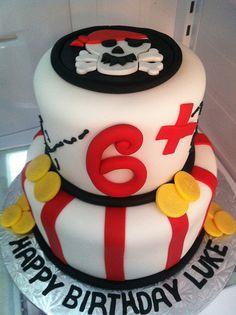 Pirate Birthday Cake by CakeGirlKC, via Flickr