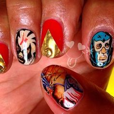 Mexican Wrestler, Nail Decals, Fabulous Nails, Twins, Mexico, Etsy, Book, Birthday, Makeup
