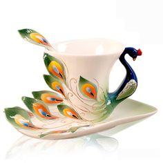 Peacock Ceramic Coffee Mug / Tea Cup