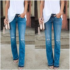 **** STITCH FIX 2017 inspo! Stitch Fix has the BEST selection of on trend distressed denim! Try Stitch Fix today. Simply click the picture to get started. Tell your stylist exactly what your style is and they will send you 5 pieces you will LOVE! Spring Summer 2017. #sponsored #stitchfix