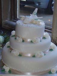 Wedding cake for a pilot