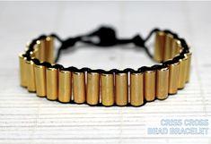 Criss Cross Bead Bracelet