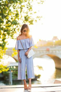 6 Jumpsuit Styles to Wear this Spring - Trend Wear Petite Jumpsuit, Casual Jumpsuit, Culotte Jumpsuit Outfit, Summer Jumpsuit, Moda Petite, Spring Summer Fashion, Spring Outfits, Off Shoulder Jumpsuit, Petite Outfits