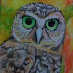 Hasil akhirnya begini, hehe lumayan.. An Owl #art #artist #watercolor #painting #learntopaint #animal #owl #fineart #traditionalart #fetisumaryanti
