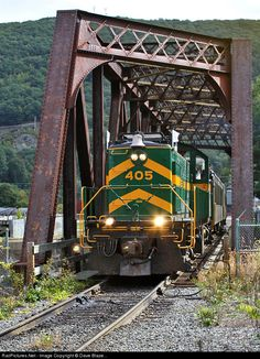 RailPictures.Net Photo: GMRC 405 Green Mountain Railroad Alco RS-1 at Bellows Falls, Vermont by Dave Blaze...