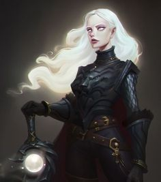 f Half Drow Elf Dark Paladin Plate Armor Greatsword female Underdark Traveler story med (saved) Dungeons And Dragons Characters, Dnd Characters, Fantasy Characters, Female Characters, Game Of Thrones Characters, Fictional Characters, Character Creation, Fantasy Character Design, Character Design Inspiration