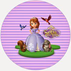 i Princess Sophia, Disney Princess, Sofia Cake, Sofia Party, Sofia The First, Cupcake Toppers, Tea Party, Diy And Crafts, Birthday Parties