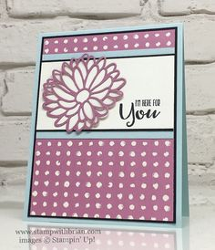 Sending-Thoughts-Stylish-Stems-Framelits-Dies-Playful-Palette-Designer-Series-Paper-Stampin-Up-Brian-King. Get Well Cards, Pretty Cards, Card Sketches, Sympathy Cards, Flower Cards, Cool Cards, Homemade Cards, Stampin Up Cards, I Card