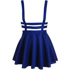 Bluetime Womens Pleated Short Braces Skirt, Blue, Large at Amazon... ($13) ❤ liked on Polyvore featuring skirts, mini skirts, short mini skirts, pleated skirt, blue skirt, short blue skirt and short skirts