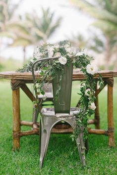 decorated wedding chairs - photo by Barb Simkova for Tara McMullen Photography http://ruffledblog.com/belha-villa-wedding-in-mexico