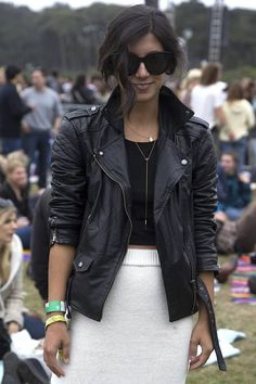 Outside Lands {day 3}  # love the leather jacket <333