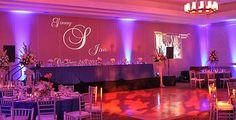 Nashville Wedding Photographer - Photography - DJ/MC - Lighting - Uplighting - Monogram. Check out this setup we did in Huntsville, Alabama. Uplighting, Monogram, elegant dance floor Leko lights.
