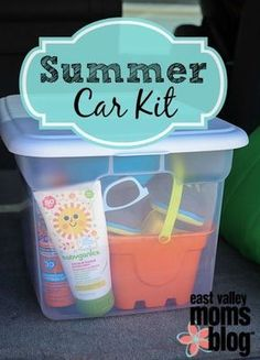 Summer Car Kit- need to create one of these for our summer bucket list activities