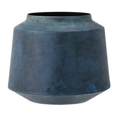 Bring modern Scandinavian style to your home with this metal vase from Bloomingville. Featuring a blue body with a rustic finish, it is minimalist in design and looks fabulous filled with flowers.