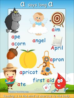 'long a ' words phonics poster - Free Download!