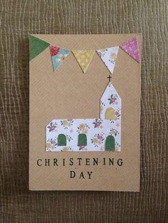 Homemade Christening invitation