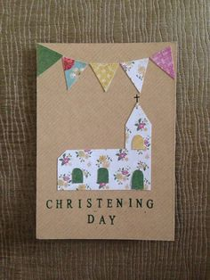 Homemade Christening invitation