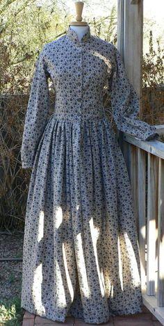 Civil War Victorian Camp Dress Historical Costume by ItsNotPajamas Vintage Dresses, Vintage Outfits, Vintage Fashion, Victorian Dresses, Fashion Goth, Steampunk Fashion, Gothic Steampunk, Steampunk Clothing, Victorian Gothic