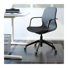 LÅNGFJÄLL Swivel chair - Gunnared blue, black - IKEA