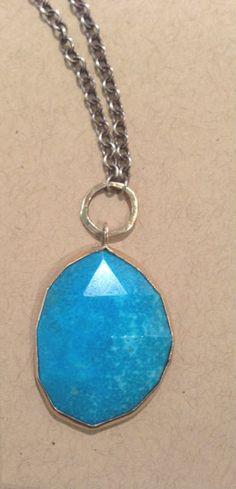 Christy Lea Payne: Sleeping Beauty Turquoise Necklace w/ 14k Gold