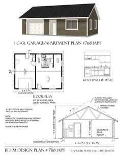 2 Story 2 Car Apartment Garage Plan - x by Behm Design. Best to use in 2 Car, Wide, Apartment, Two Story Garage Plans Garage Blueprints, Garage Plans, Pole Barn Garage, Pole Barn House Plans, Pole Barn Homes, Garage Apartment Plans, Garage Apartments, Shop House Plans, Small House Plans